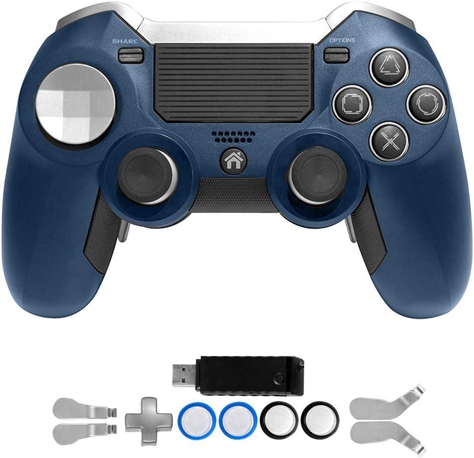 PS4 Elite Controlador con Palas, Pesado, Doble vibración Elite PS4 2.4 G inalámbrico Custom Game Controller Palanca de Mando para Play Station 4 Consola de Juegos ...