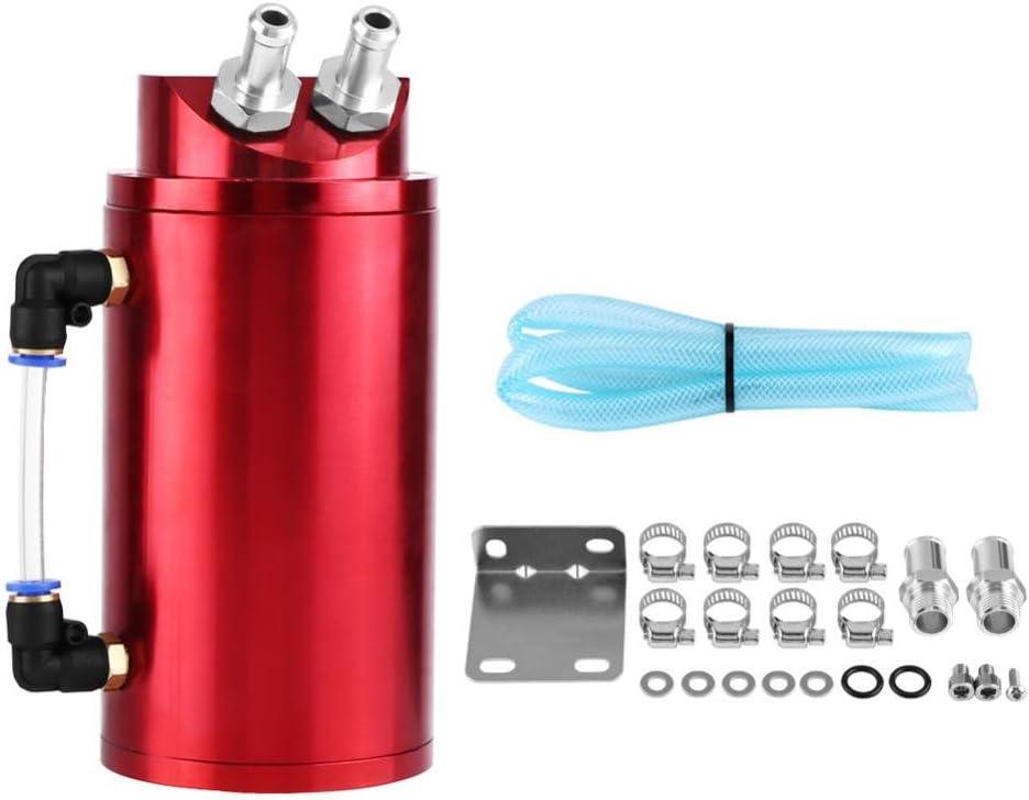GOTOTOP Oil Catch Tanque Aceite Purga filtrato Motor Aluminio Accesorio Coche M/áquina
