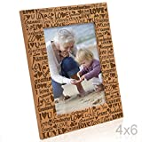 Kate Posh I Love You Grandma, Grammie Engraved Picture Frame, Grandma & Me Gifts, New Grandma, New Baby, Mother's Day, Grandparent's Day (4x6-Vertical)