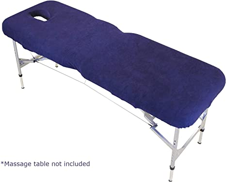Massage Bed Cover Table Plinth Treatment Couch Sheets With Face Hole Gray