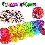 ESSENSON Slime Kit Slime Supplies Make Your Own Clear Crystal Slime Foam Slime Glitter Slime, Slime Making Kit for Girls Boys Kids, Includes Clear Crystal Slime, Foam Balls, Egg Slime