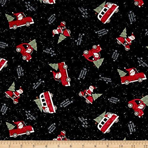 36' Santa (Susan Winget Santa Making Spirits Bright Multi Fabric By The Yard)