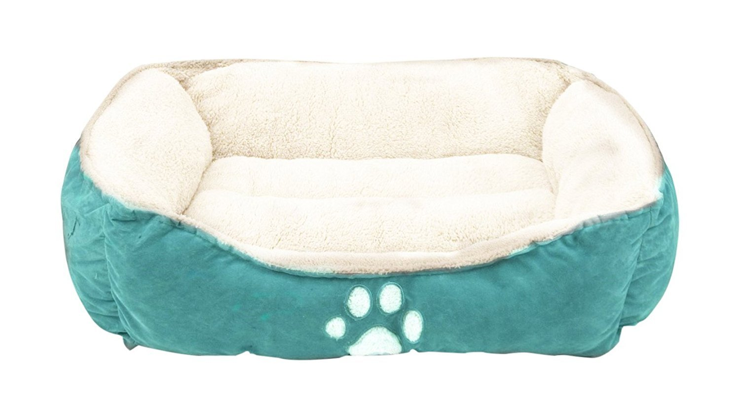 Felicite Pet Bed Fit Medium Sized Dog/Fat Cat, Machine Washable, Ultra Soft Pet Sofa,Dog Bed - Blue-25in