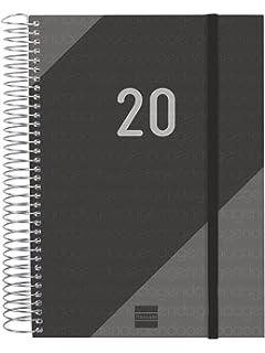 Finocam - Agenda 2020 1 día página Espiral Free Negro ...