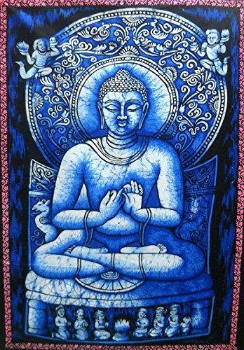 Preaching Lord Buddha Batik Wall Tapestry 40