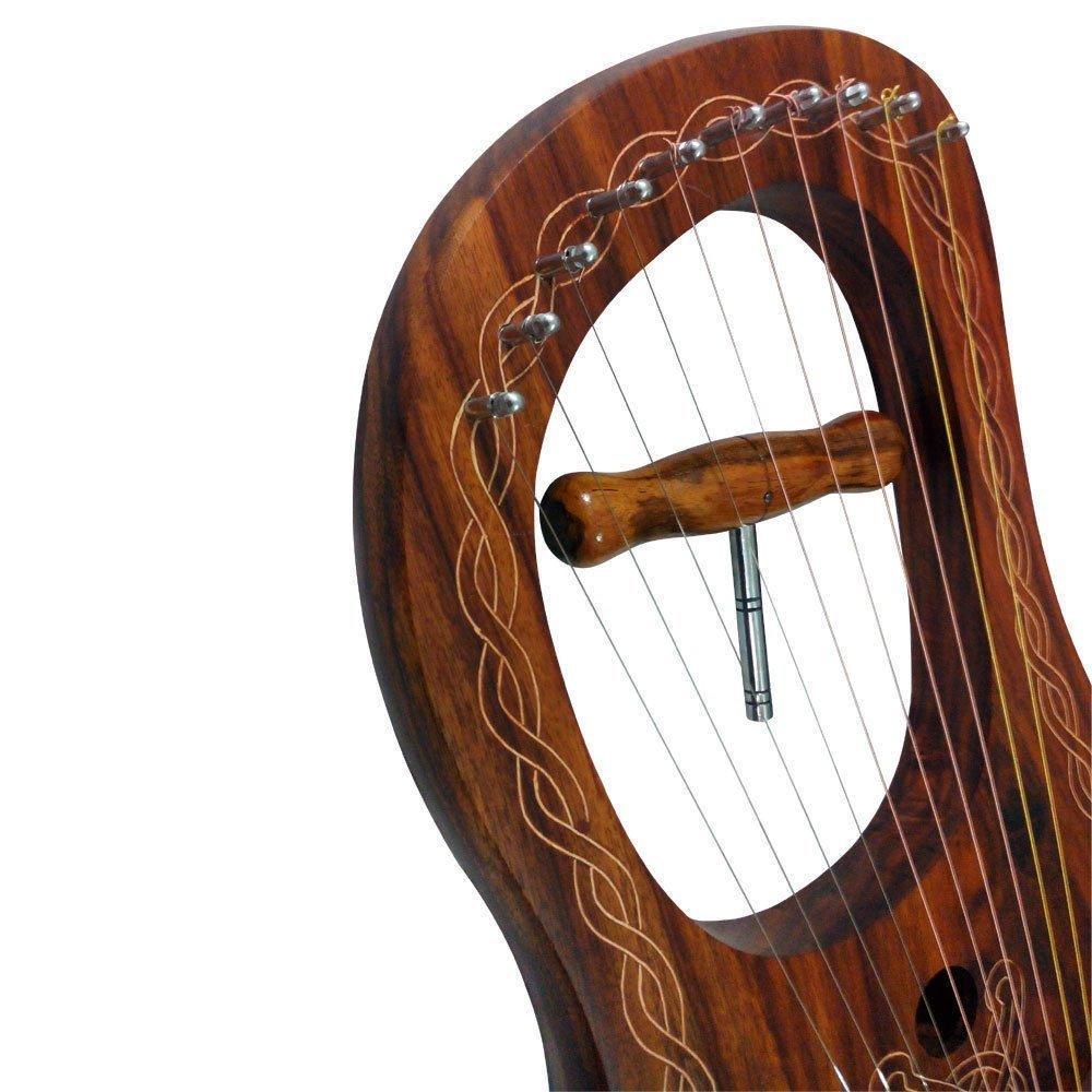 lira arpa 10 Metal Cuerdas Palo De Rosa / Lyra arpa PALO DE ROSA 10 cuerdas con funda tc
