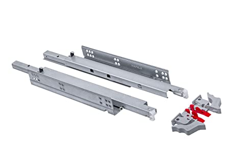 1 Paar L/änge: 450 mm 1 Paar 35 mm Teleskopschienen Schubladenschienen Schubladenauszug Vollauszug