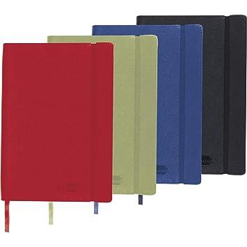 Liderpapel Libreta Símil Piel A5 120 Hojas 70 g/m² Liso Colores Surtidos