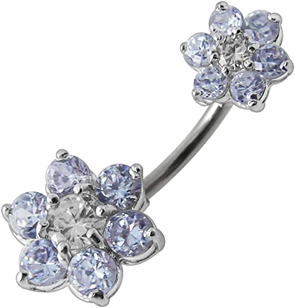 14 GA Blackline Classic Anchor Belly Button Ring 1.6mm - Sold Individually