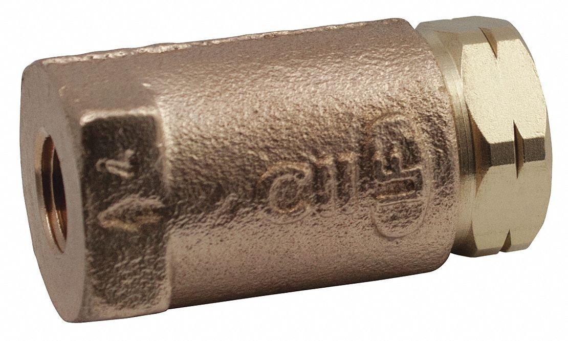 In-Line Apollo Valve 61LF Series Bronze Lead Free Ball Cone Check Valve 400 psi//125 psi Pressure 1//2 NPT Female