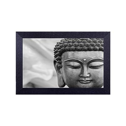 Buy Décor Design Black and White Buddha Fce Led Photo Frame Online ...