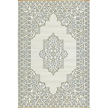 Mad Mats Bouquet Indoor/Outdoor Floor Mat, 4 by 6-Feet, Cool Silver