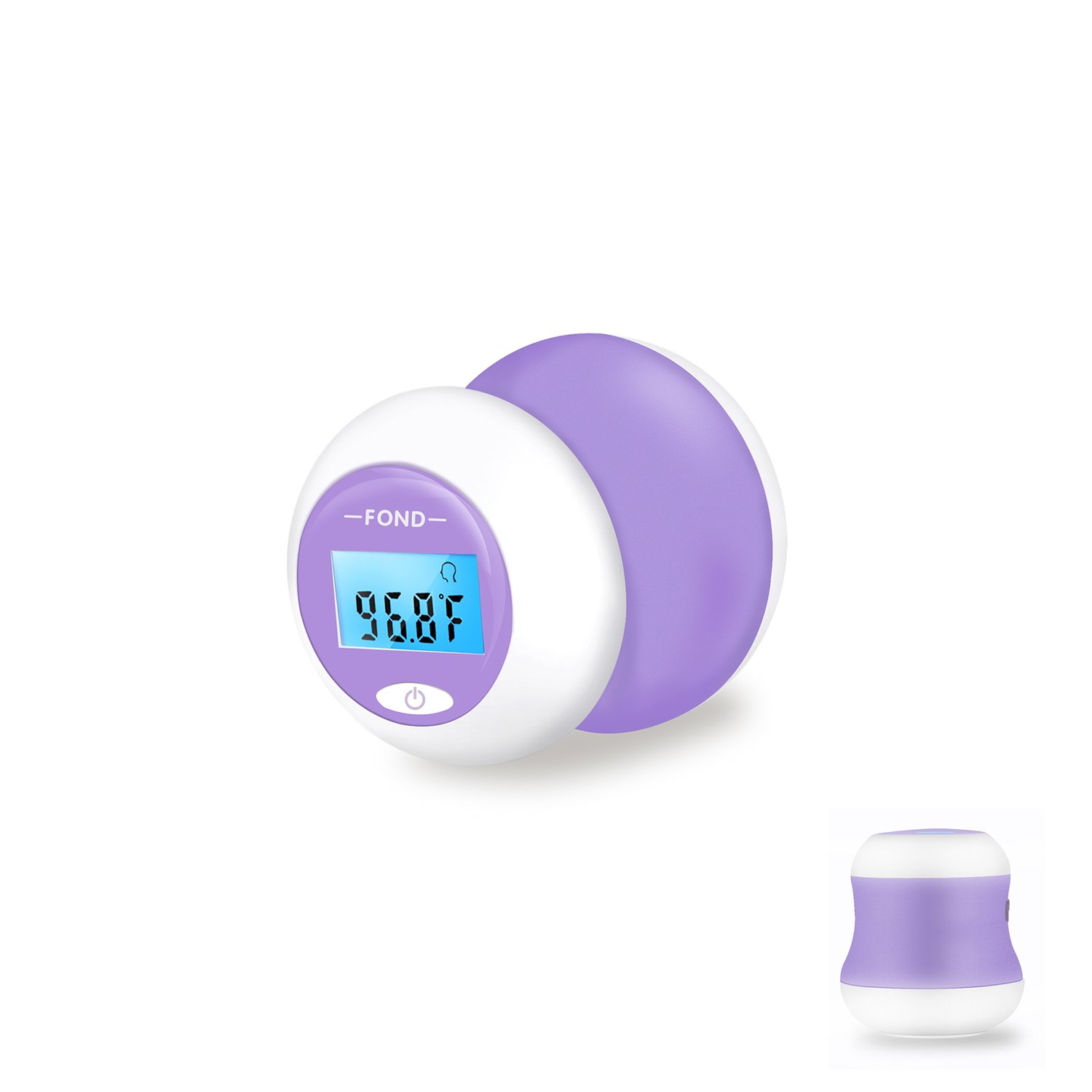 C//F Switchable Suitable for Home All Age 12 Memory Blue Backlight FOND Baby Rechargeable Forehead Thermometer Measure Temperature in 1s
