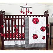 Sweet Jojo Designs 9-Piece Red and White Polka Dot Ladybug Baby Girl Bedding Crib Set