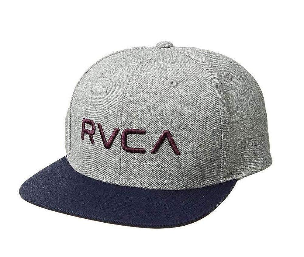 online retailer 39278 6a3d7 Amazon.com  RVCA Twill Snapback Hat Heather Grey Navy Burgundy Snap Back Cap   Clothing