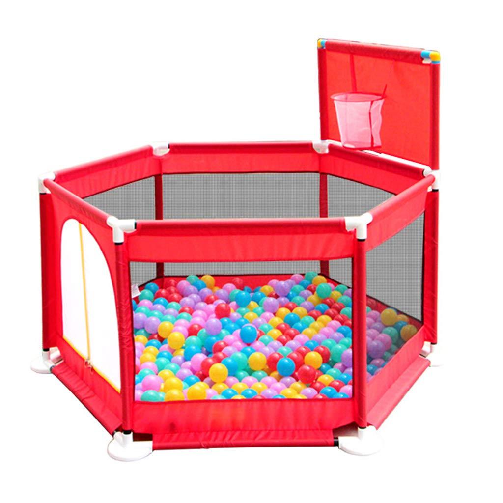 子供の遊びフェンス安全で丈夫な屋内ガードレールゲームプレイペンダウンロードフリーの写真おもちゃハウス贈り物 (Color : Red, Size : 129x129x66cm) 129x129x66cm Red B07LGZPPJC