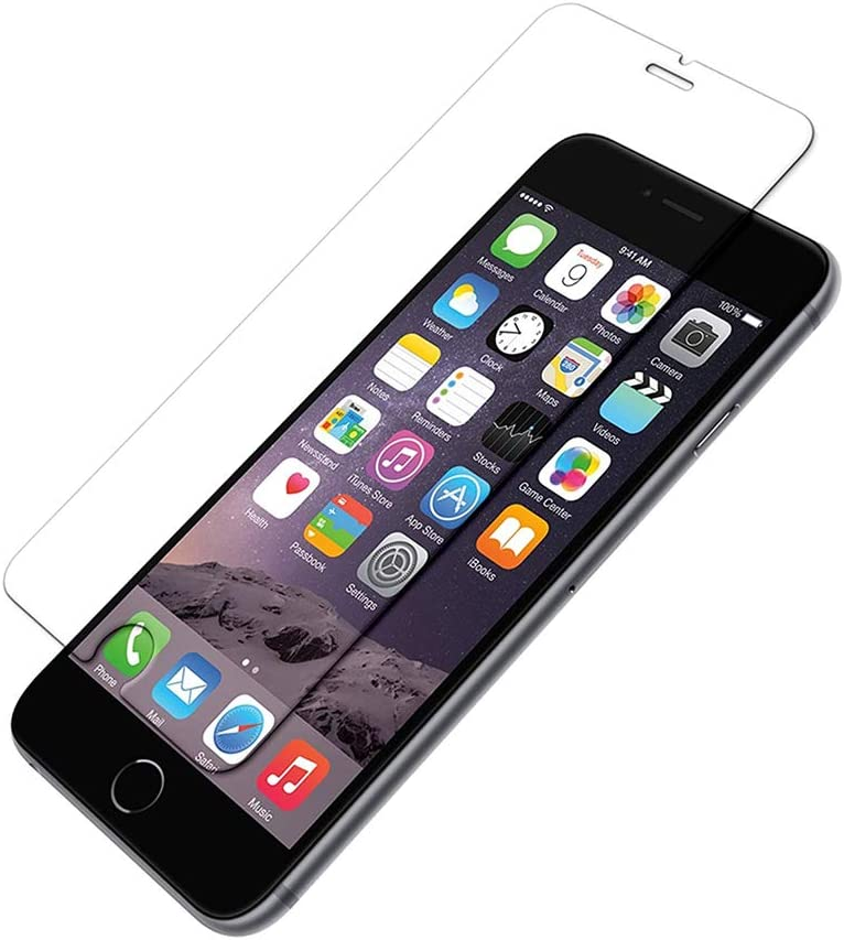 KIQ Glass Screen Protector for iPhone 6 Tempered Glass Case-Friendly Anti-Scratch Bubble Free Self-Adhere 100 Pack