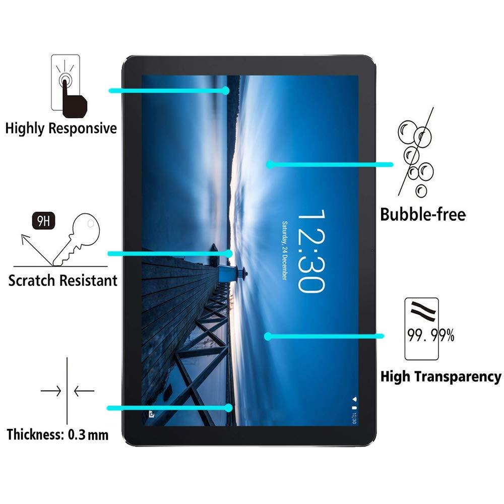 Protector Pantalla para Lenovo Tab E10 2018 10.1 2018 Cristal Film Protector de Pantalla de Vidrio Templado Alta Claridad 9H Dureza Resistente Anti-Ara/ñazos 1 Pack