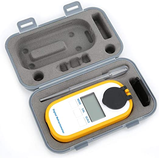Neufday Alcohol Test Meter,Portable Alcohol Concentration Test Refractometer 0~80/% Wine Spirits Tester Meter Instrument