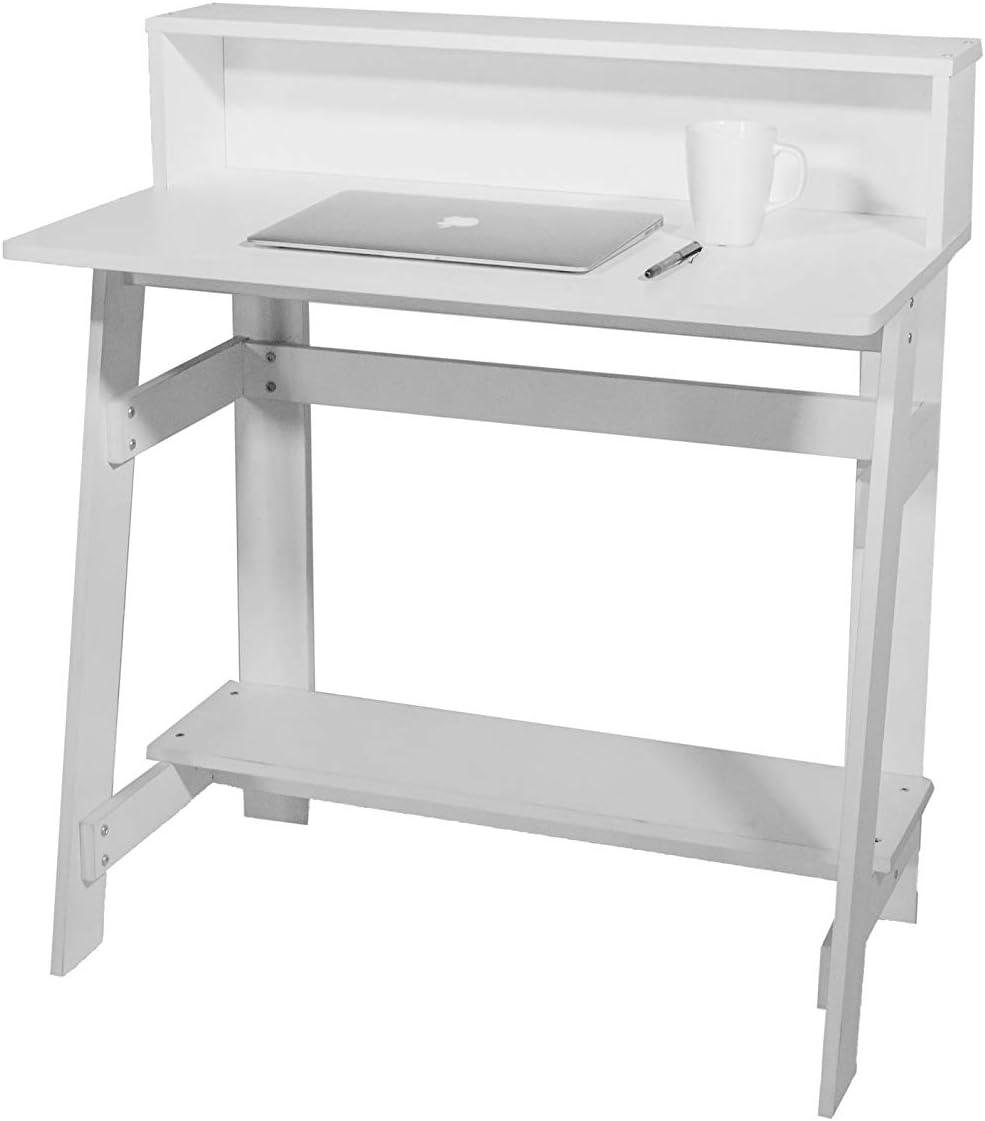 OneSpace Lennox Hutch, White Computer Desk