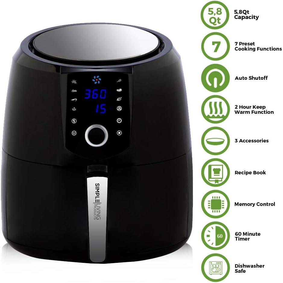 Simple Living XL 5.8qt Hot Digital Air Fryer Review
