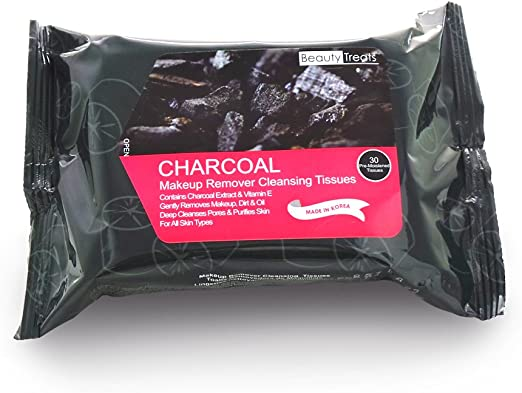BEAUTY TREATS Charcoal Makeup Remover Cleaning Tissues (6 Pack): Amazon.es: Belleza