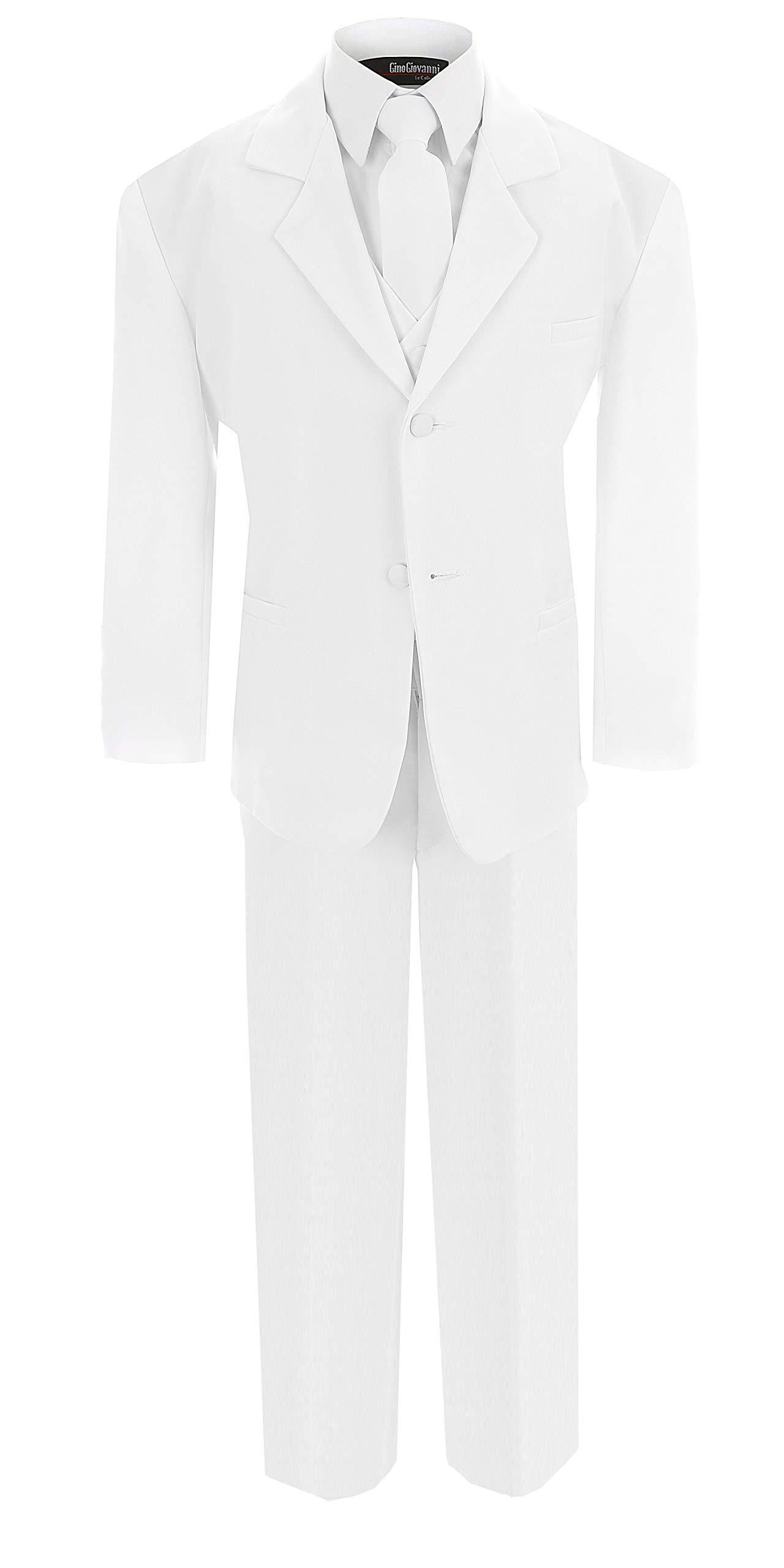 Boy's Formal Dresswear Set G214 (6, White Suit)