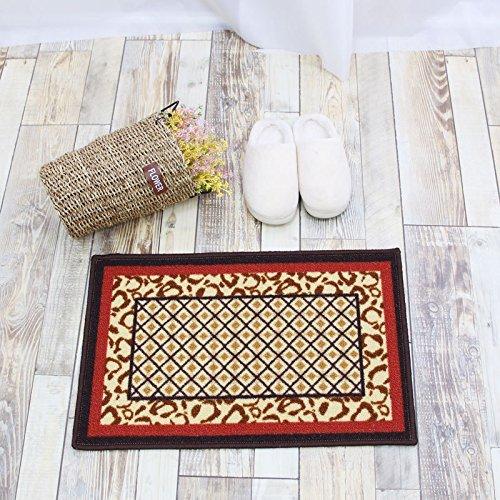 FZFZFZ The living room bedroom living room bedroom bedside bed blanket Jebsen carpet blanket strip machine antiskid Garden,Leopard grille,[two] 440MM 700MM