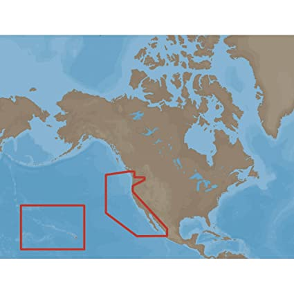 Map Of California And Hawaii.Amazon Com C Map Max Wide On C Card Coverage Area W47 U S West
