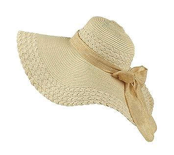 Gladiolus Chicas Grande Sombrero de la Playa Sombrero de Paja Sombrero de Verano  Sombrero 810805827a9
