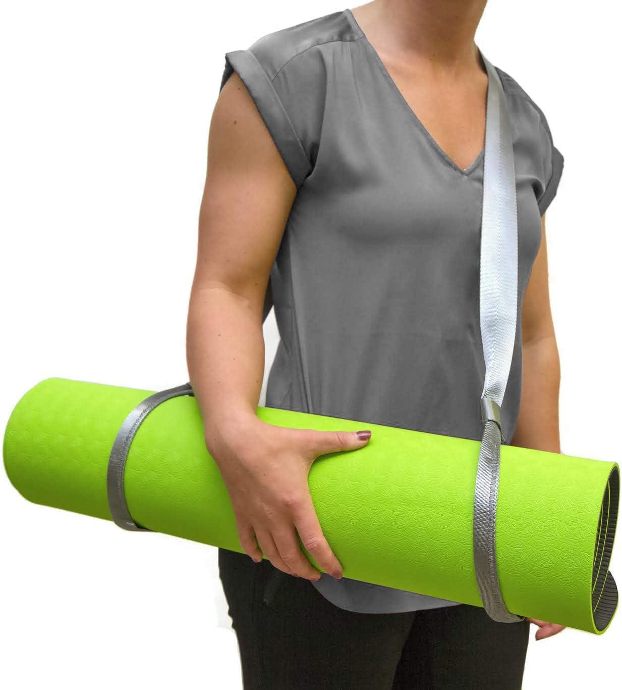 1x Convenient Yoga Mat Sling Carrier Shoulder Carry Strap Belt Gradient Ramp#