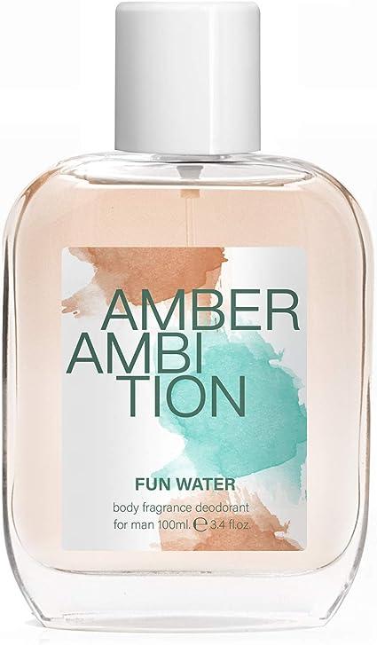 Fun Water Amber Ambition - Desodorante para hombre (100 ml, pack ...