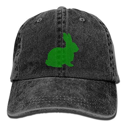Uzhongquux Cartoon Rabbit Unisex Cotton Denim Baseball Cap Adjustable Strap Low Profile Plain Hats Black (Denim And Diamonds Outfit Ideas)