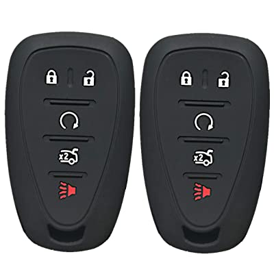 Qty(2) Alegender Silicone 5 Buttons Smart Key Cover Case Fob Holder Bag Keyless Protector Fit for 2020 2020 2020 Chevy Malibu Camaro Sonic Cruze Volt Equinox Chevrolet HYQ4EA: Automotive [5Bkhe1504546]
