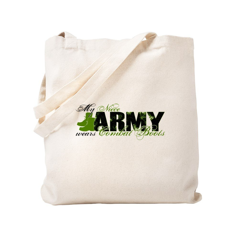 CafePress - Niece Combat Boots - ARMY - Natural Canvas Tote Bag, Cloth Shopping Bag