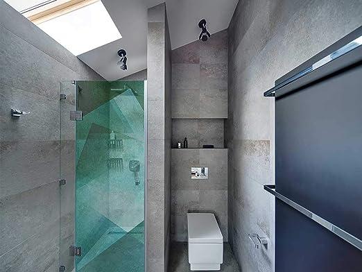 Vinilo Transparente para Mamparas de Ducha y Baños Arte Moderno Verde | Varias Medidas 200x60cm | Adhesivo Resistente y de Fácil Aplicación | Pegatina Adhesiva Decorativa de Diseño Elegante: Amazon.es: Hogar