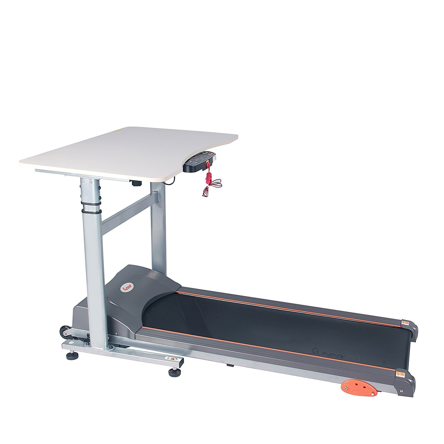Sunny Health & Fitness Treadmill Desk Workstation with Power Adjustable Table Height, SF-TD7704