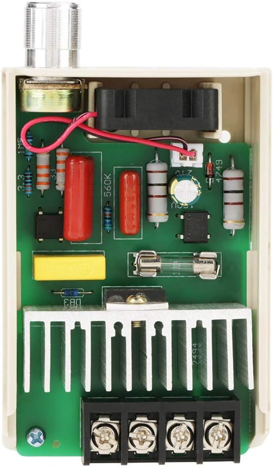 Oumefar Digitale Steuerung 1pc AC220V Elektronischer Thyristor 4000W Spannungsregler Dimmer f/ür die Industrieproduktion