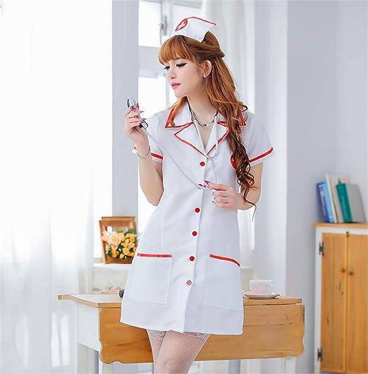 4c75b5923c596 Amazon.com: BogddyCOS Ecommerce Temptation Nurse Costume Underwear Uniform  Cute Sexy Lingerie Role Play Hallowmas Suit Tight: Clothing