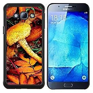 LECELL--Funda protectora / Cubierta / Piel For Samsung Galaxy A8 A8000 -- Naturaleza del ferrocarril --