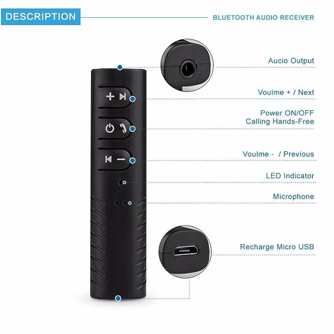 4 opinioni per J&J ricevitore Bluetooth 4.1 wireless portatile adattatore audio 3.5 mm stereo
