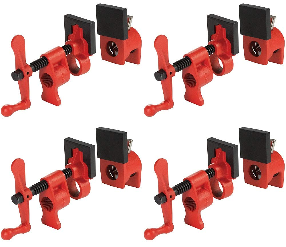 Bessey PC34-2 3/4''-Diameter Pipe Clamp for Woodworking - 4-Pack by VMTW