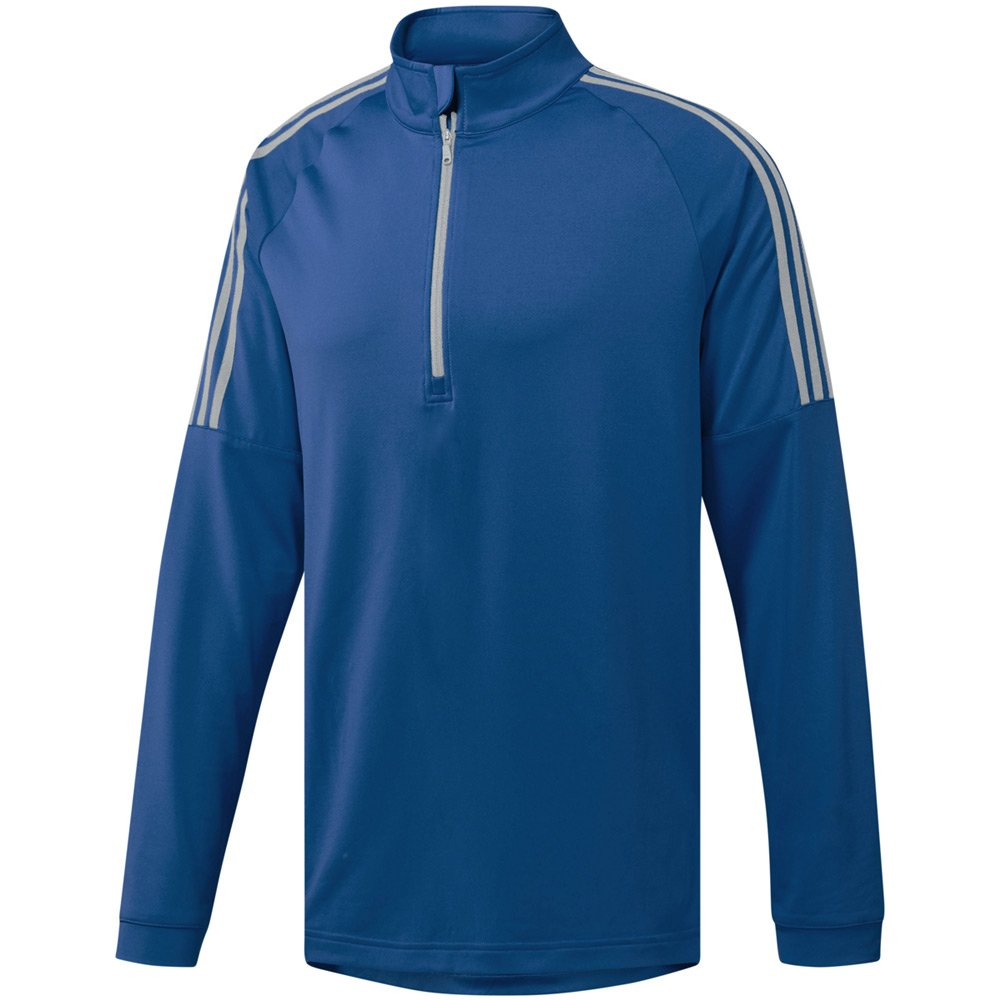 adidas Golf Men's Classic 3-Stripe 1/4 Zip Pullover Top, Collegiate Royal, Small