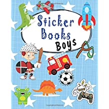 Sticker Books Boys: Blank Permanent Sticker Book