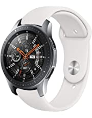 Watches Monochrome Silicone Strap for Samsung Galaxy Watch Active 20mm(Creamy Whiteei)