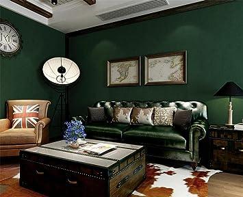 Vliestapeten Einfach Pure Plain Dunkelgrun Smaragd Tapete