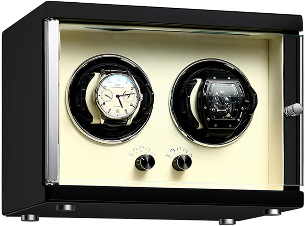 zyy Caja Giratoria para Relojes 2 Relojes Automaticos Mecánicos Caja Bobinadora Silenciosa Caja de Almacenamiento con 5 Programas de Rotación de Madera Caja de Reloj (Color : Upgrade)