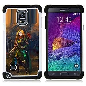 For Samsung Galaxy Note 4 SM-N910 N910 - redhead hero woman adventure kids Dual Layer caso de Shell HUELGA Impacto pata de cabra con im????genes gr????ficas Steam - Funny Shop -