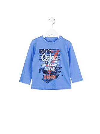 137315c5240be Losan 815-1300AC T-Shirt Enfant Bleu 6a  Amazon.fr  Vêtements et ...