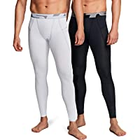 TSLA Men's (Pack of 1, 2, 3) UPF 50+ Compression Pants, UV/SPF Running Tights, Workout Leggings, Cool Dry Yoga Gym…